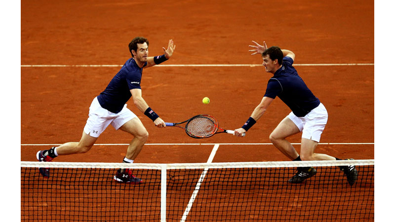 18/136 Andy and Jamie Murray Davis Cup Final 2015