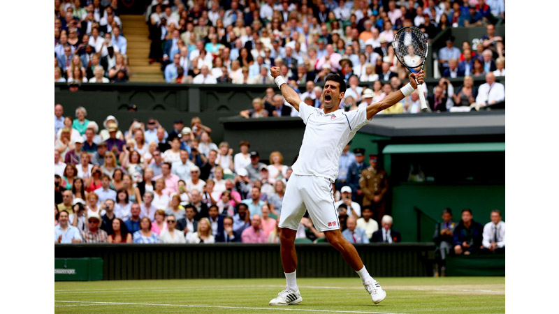 29/136 Novak Djokovic of Serbia wins Wimbledon 2015