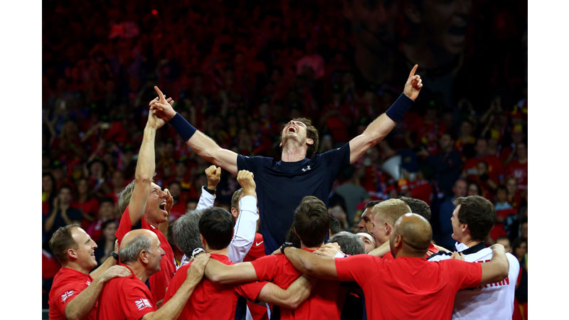 19/136 Andy Murray and  Team GB win the Davis Cup Ghent 2015