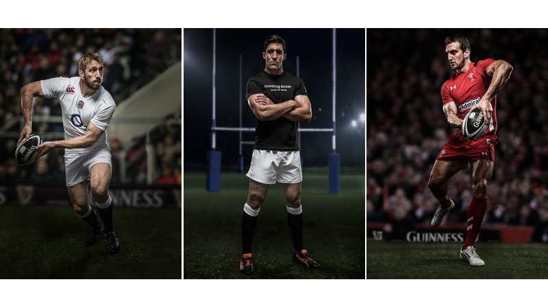 37/151 Chris Robshaw, Kelly Brown, Sam Warburton for Guinness