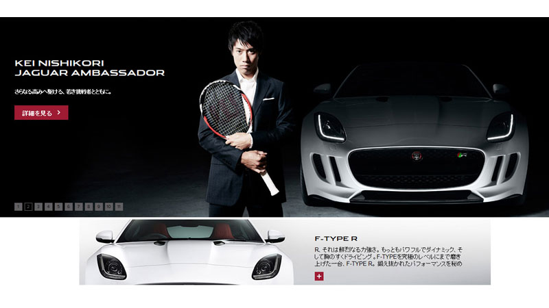 35/132 Kei Nishikori for Jaguar, Japan