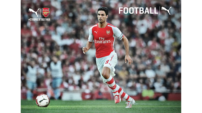 31/132 Mikel Arteta of Arsenal for Puma 2014