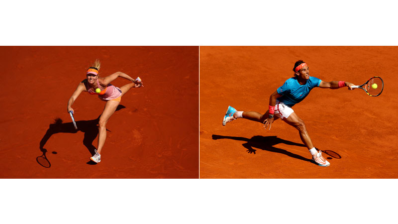 72/170 Maria Sharapova, Paris 2014; Rafael Nadal, Madrid 2015
