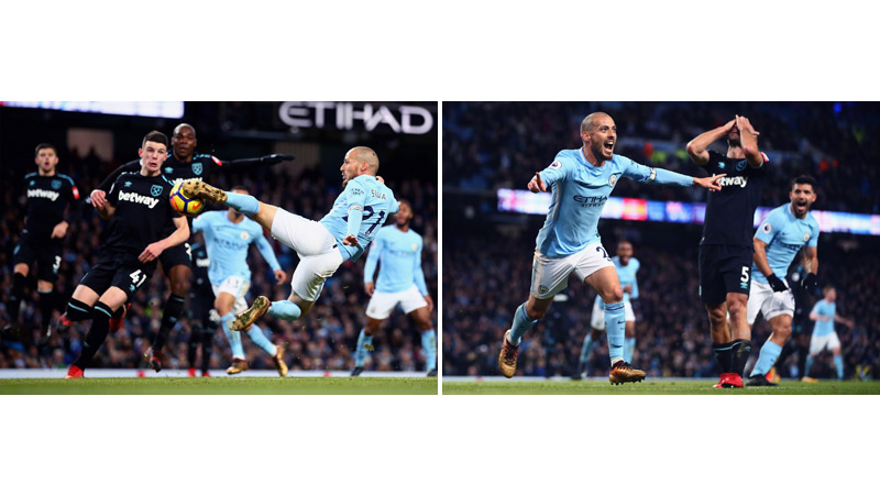 11/170 David Silva scores for Man City, 2017
