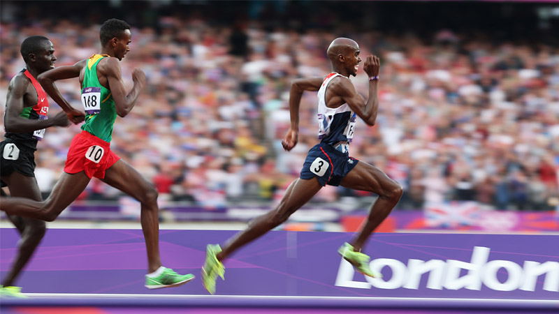 65/136 - Mohamed Farah of Great Britain, London, Aug 2012
