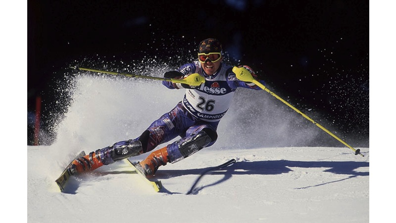 135/161 - Skiing at Madonna di Campiglio - Italy, 1997. © Getty Images