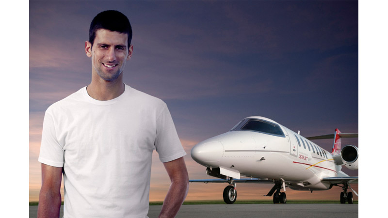 70/132 - Novak Djokovic, for Aero Bombarier 2012.