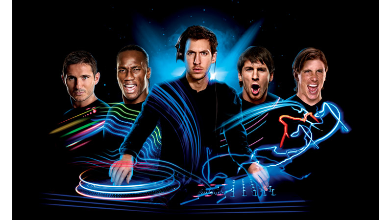 55/132 Lampard, Drogba, DJ Calvin Harris, Messi and Torres for Pepsi Football, 2012