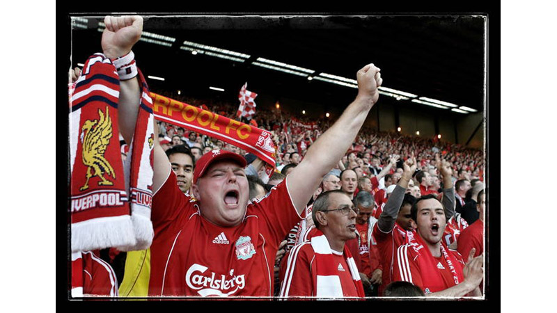 5/38 Liverpool fans on the KOP, Anfield, England 2007