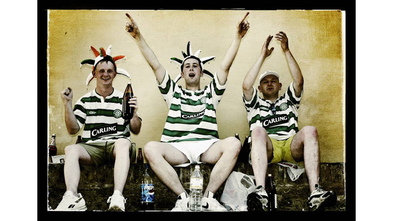 26/38 Glasgow Celtic fans, Seville, Spain 2003