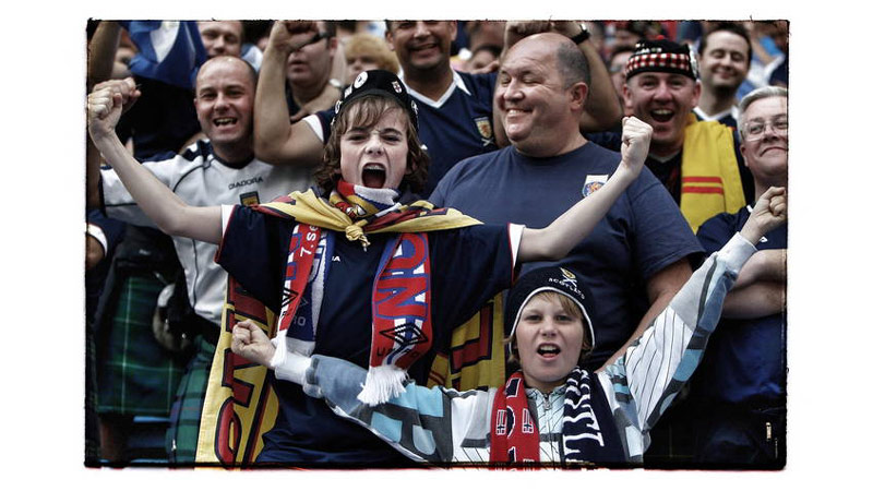 31/38 Scottish fans, Oslo, Norway 2009