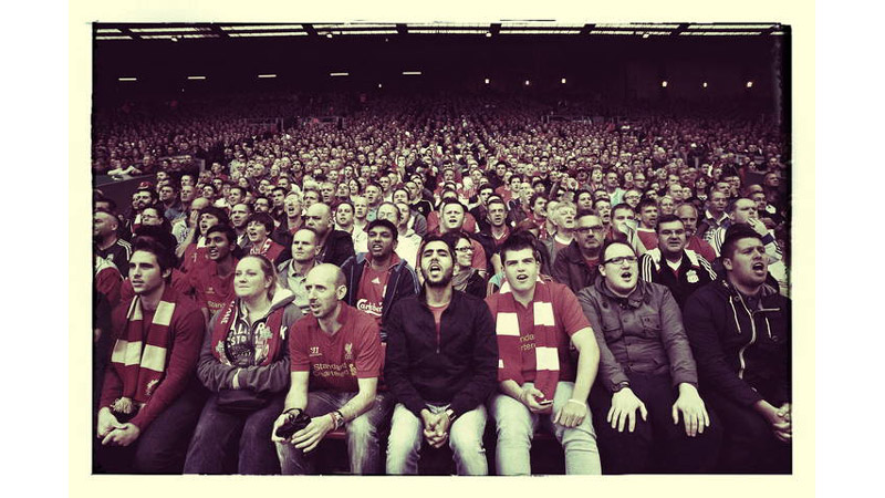 8/38 Liverpool fans on the KOP, Anfield, England 2013