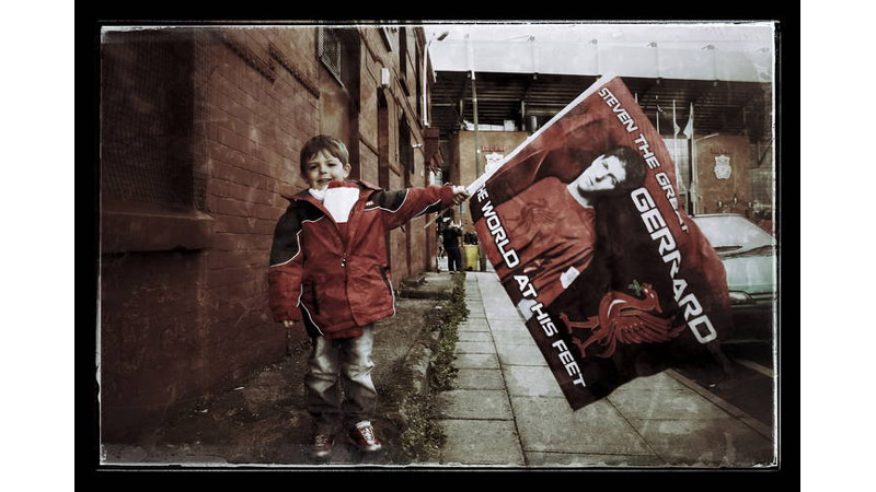 10/38 A young Liverpool fan, Anfield, England 2013