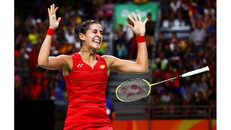 41/170 Carolina Marin of Spain wins Gold, Rio 2016