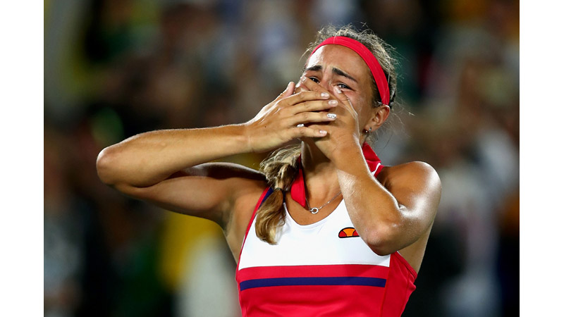 8/136 Monica Puig of Puerto Rico wins Gold, Rio 2016